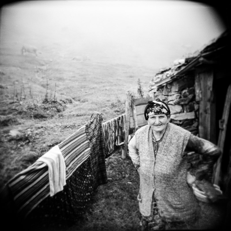 A farmer at home in the high plateaus near Uzungöl, eastern Turkey.