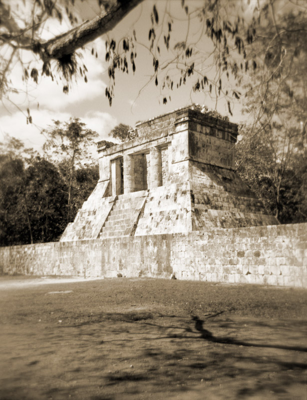 The north temple of the Mayan ball court at Chichen Itza, Mexico.