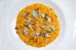 The saffron risotto at Fork Restaurant in Philadelphia.