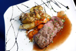 The lamb sirloin entree at the Tiedhouse gastropub in Philadelphia.