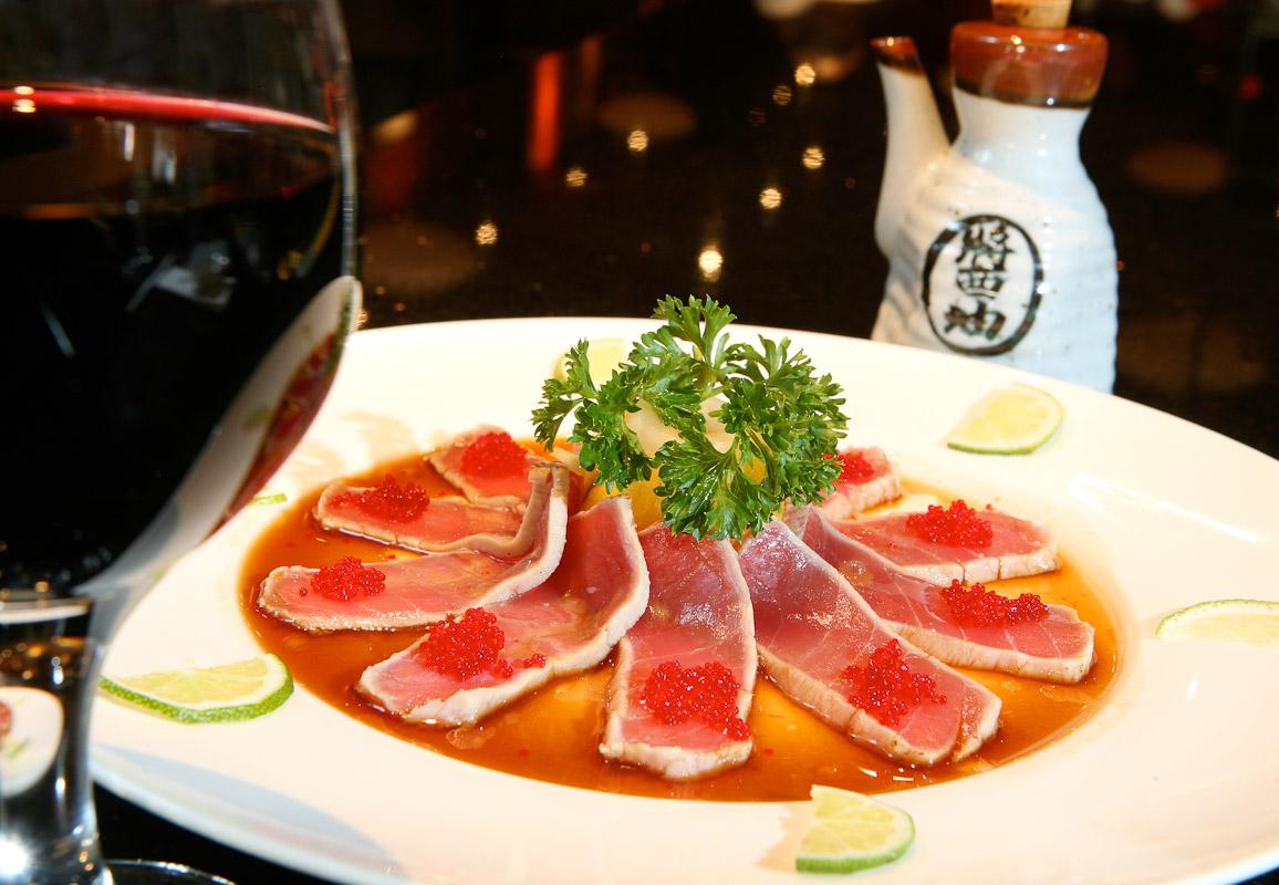 The tuna tartar appetizer at Aki Restaurant in Philadelphia.