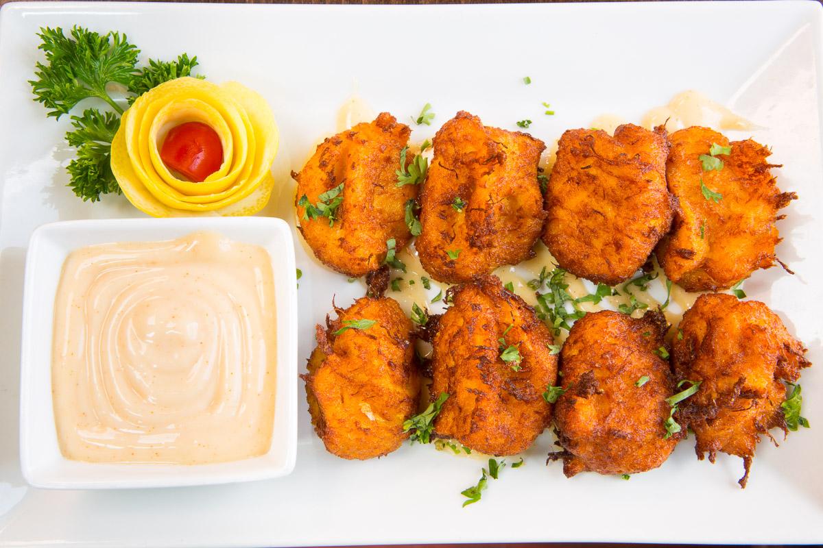 Crab and sweet potato croquettes at The Tomato Bistro in Philadelphia.