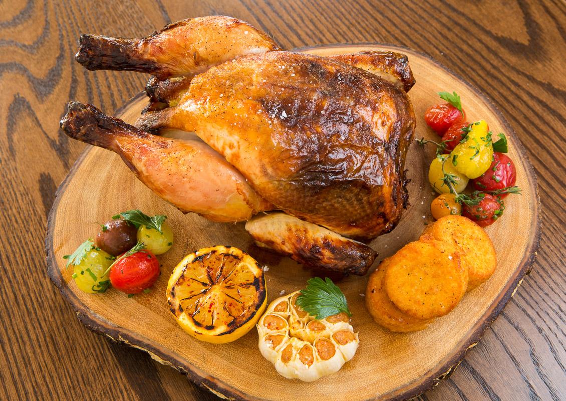 The garlic roast chicken at Pub and Kitchen in Philadelphia.