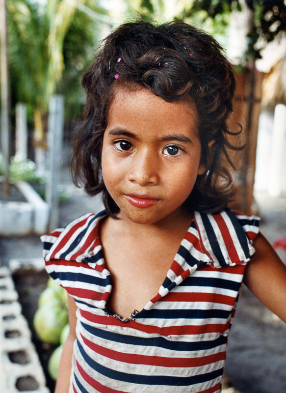 A young girl in Tulate, Guatemala.