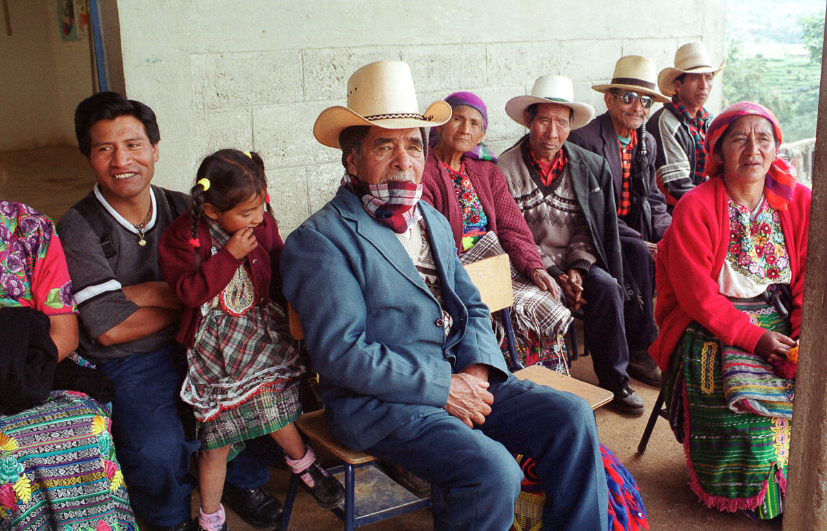 Villagers in Cabricán, Guatemala.