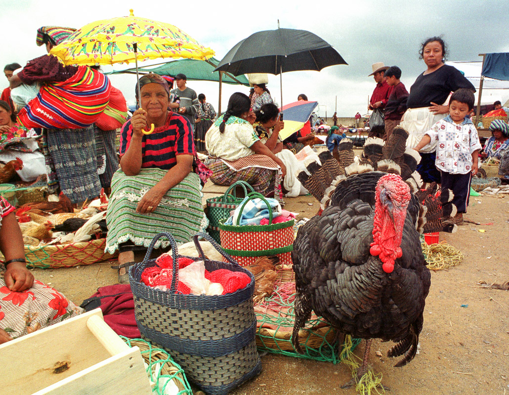 The weekly market in San Francisco el Alto, Guatemala.