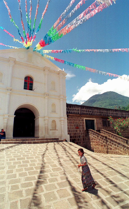 The church of San Pedro La Laguna in Guatemala.