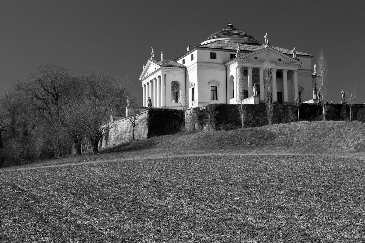 The Villa Rotonda, a Renaissance villa designed by Andrea Palladio just outside Vicenza, Italy.