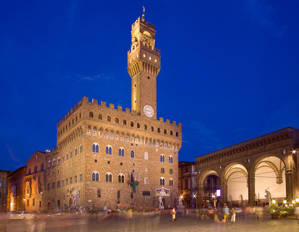 The Palazzo Vecchio in the Piazza della Signoria, Florence.