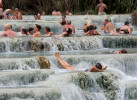 The Saturnia hot springs in Saturnia, Tuscany.