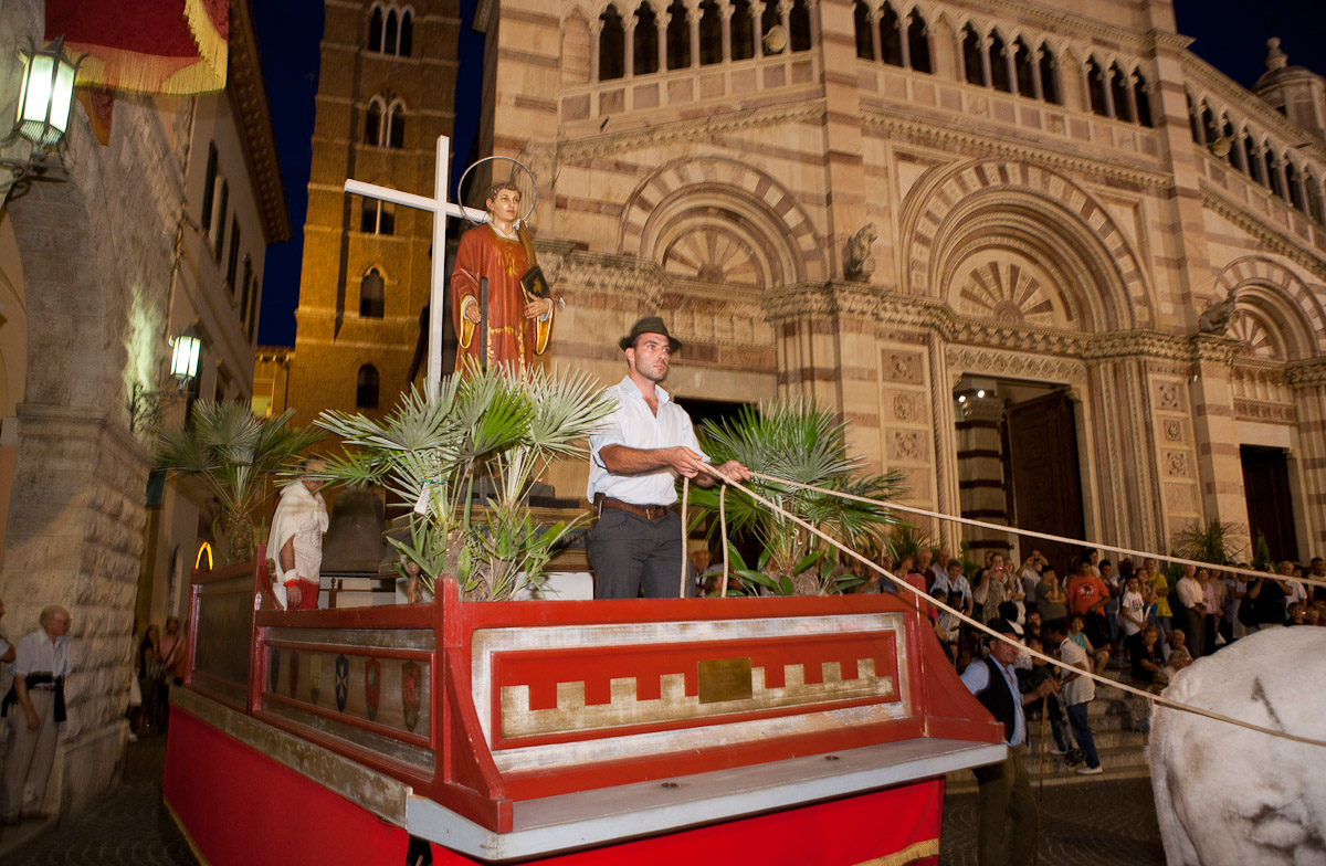 The festival of San Lorenzo, the patron saint of Grosseto, Tuscany.