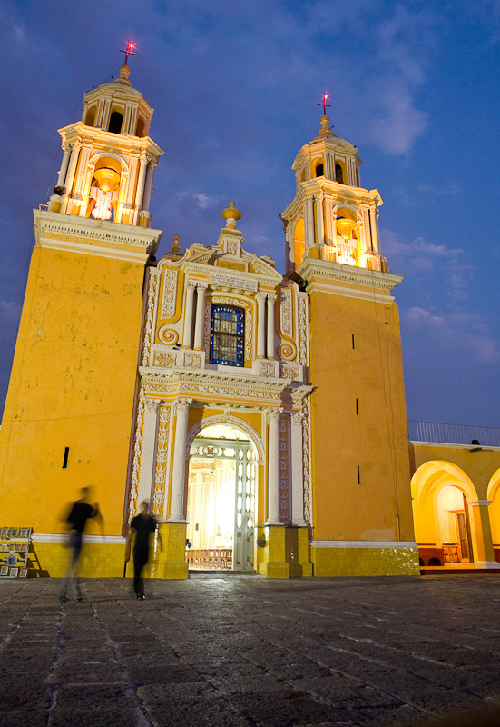 Santuario de los remedios church in Cholula, Puebla, Mexico.