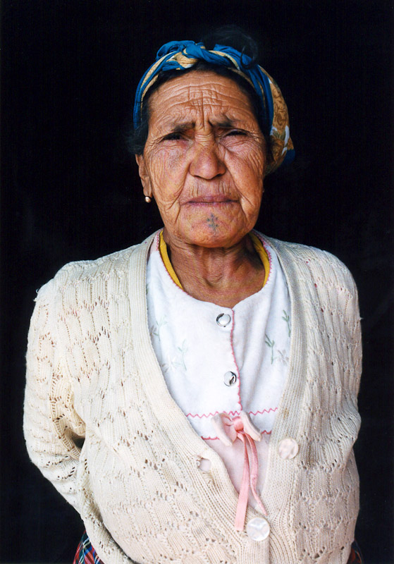 An old Berber woman in the village of Nigrits near Taza.