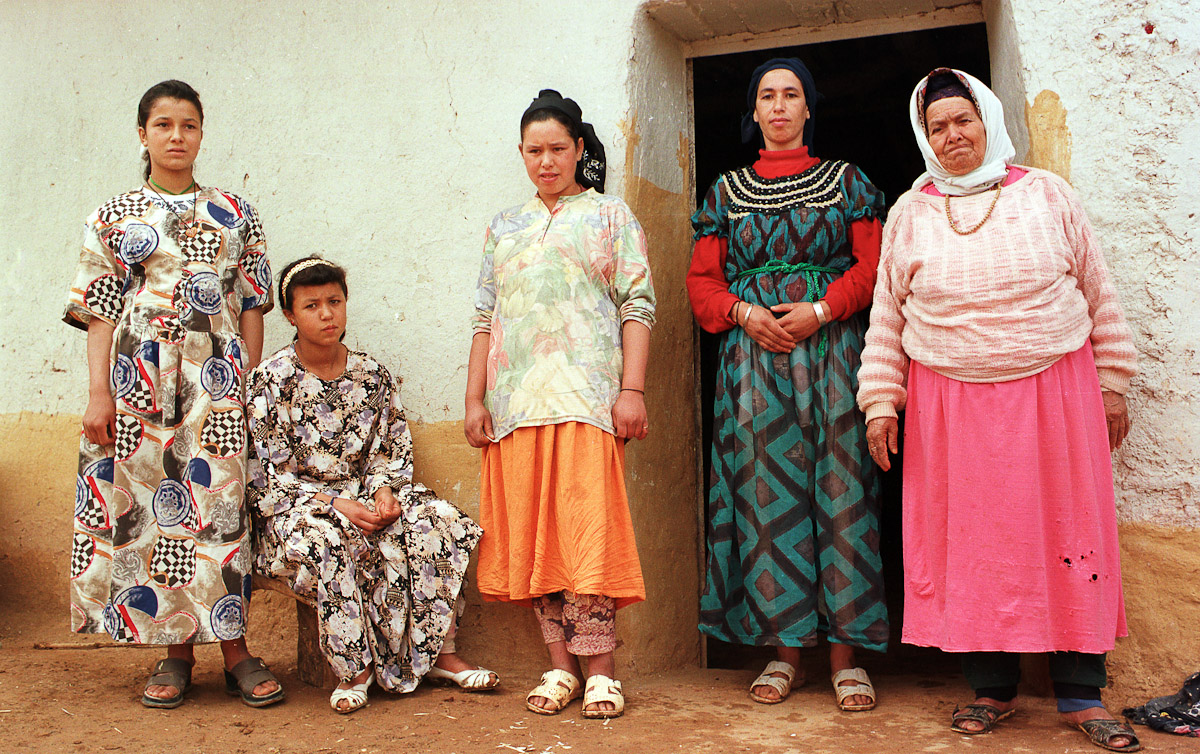 Berber women in the village of Nigrits near Taza.