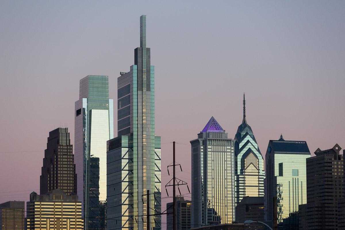 The Philadelphia skyline.