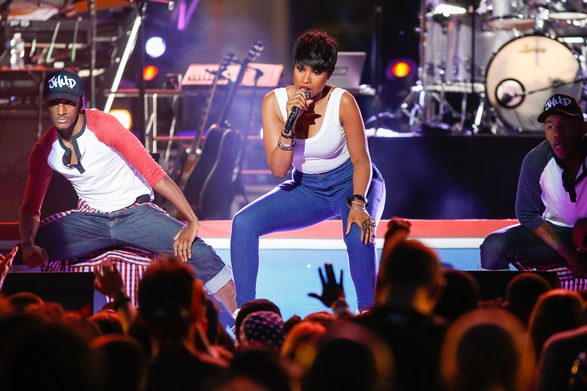 Jennifer Hudson performs at the Philly 4th of July Jam in Philadelphia.