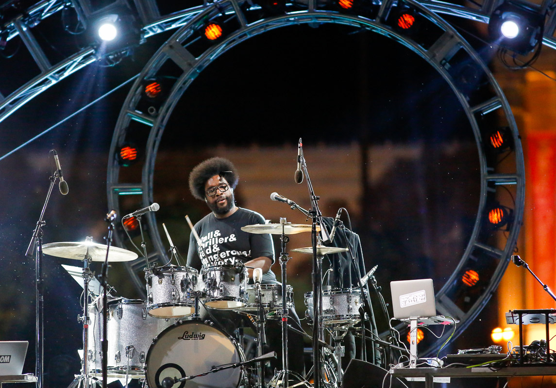 Ahmir {quote}?uestlove{quote} Thompson of The Roots performs at the Philly 4th of July Jam in Philadelphia.