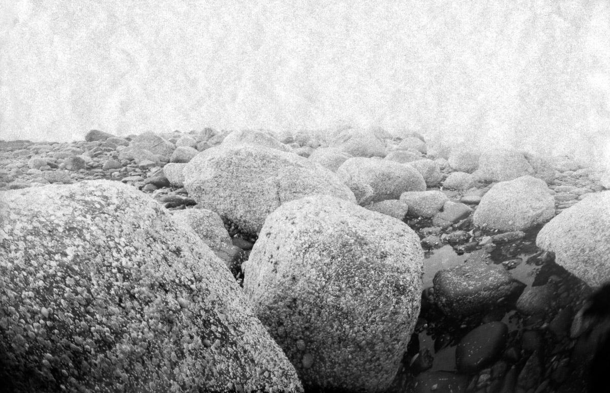 Rocks on the Isle of Arran in Scotland.