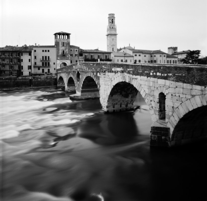 Ponte Pietra in Verona, Veneto, Italy.