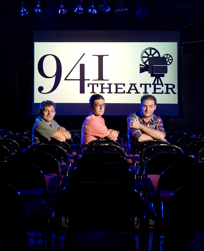 941 Theater's founders, from left to right, Nick Esposito, Zafer Ulkucu and Doug Sakmann in Philadelphia.
