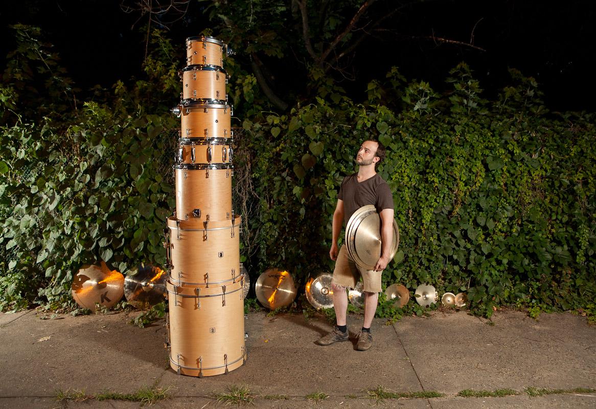 Drummer Eli Litwin in Philadelphia.