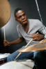 Drummer Justin Faulkner at the Clef Club of Jazz in Philadelphia.