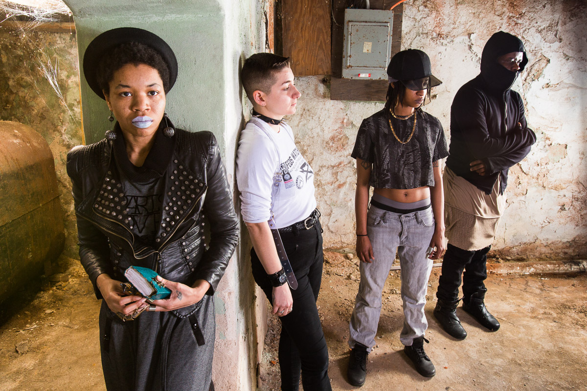 From left to right, Rasheedah Phillips, Maggie Eighteen, Ras Mashramani and Alex Smith of Metropolarity in Philadelphia.