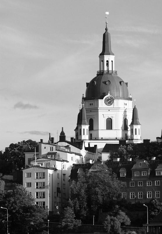 Katarina kyrka, originally built from 1656-1695, presides over Stockholm.