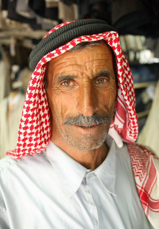A man in Gümrük Han in Sanliurfa, Turkey.