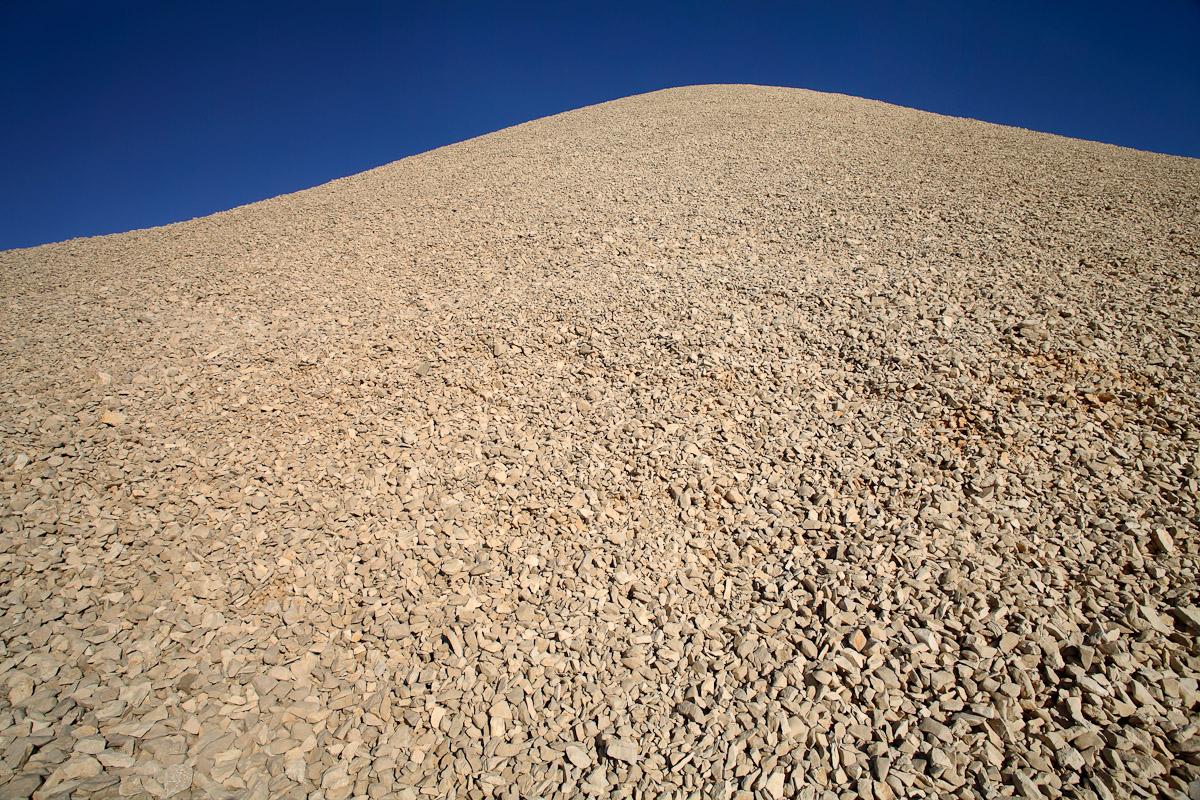 A mound of rocks at the peak of Mt. Nemrut in Nemrut Dagi, Turkey.