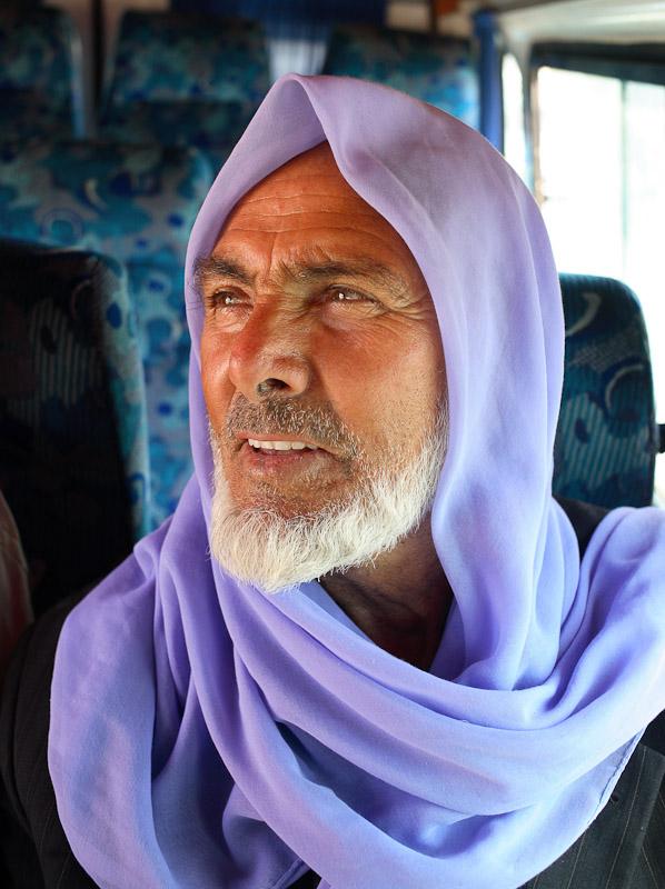 Portrait of a man on a bus to Harran, Turkey.