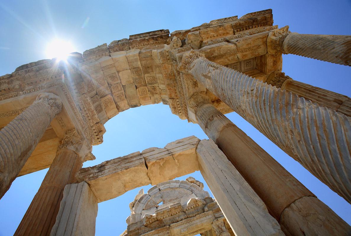 The entrance to Aphrodite's Temple in Aphrodisias, Turkey.