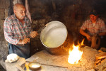 Workers make a metal pot in Sanliurfa, Turkey.