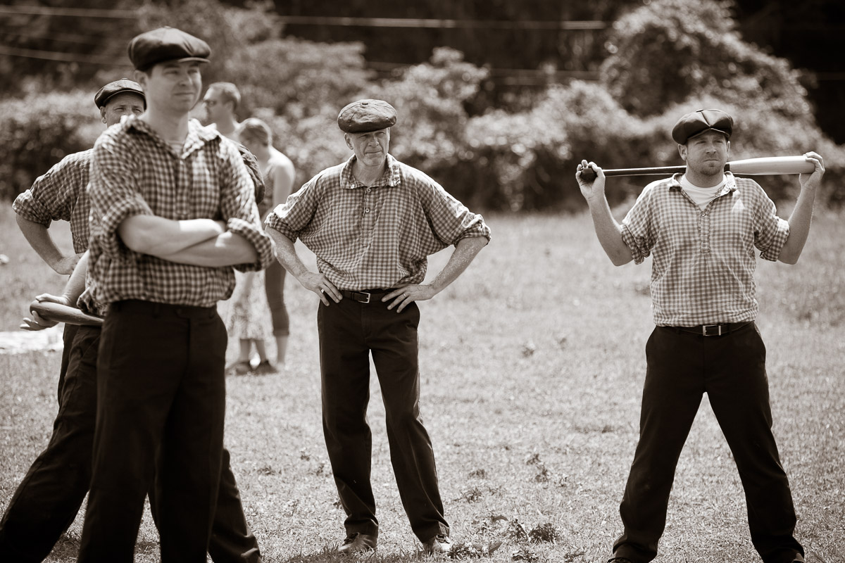 The Diamond State Base Ball Club during a match with the Philadelphia Athletic Base Ball Club in Greenville, DE.