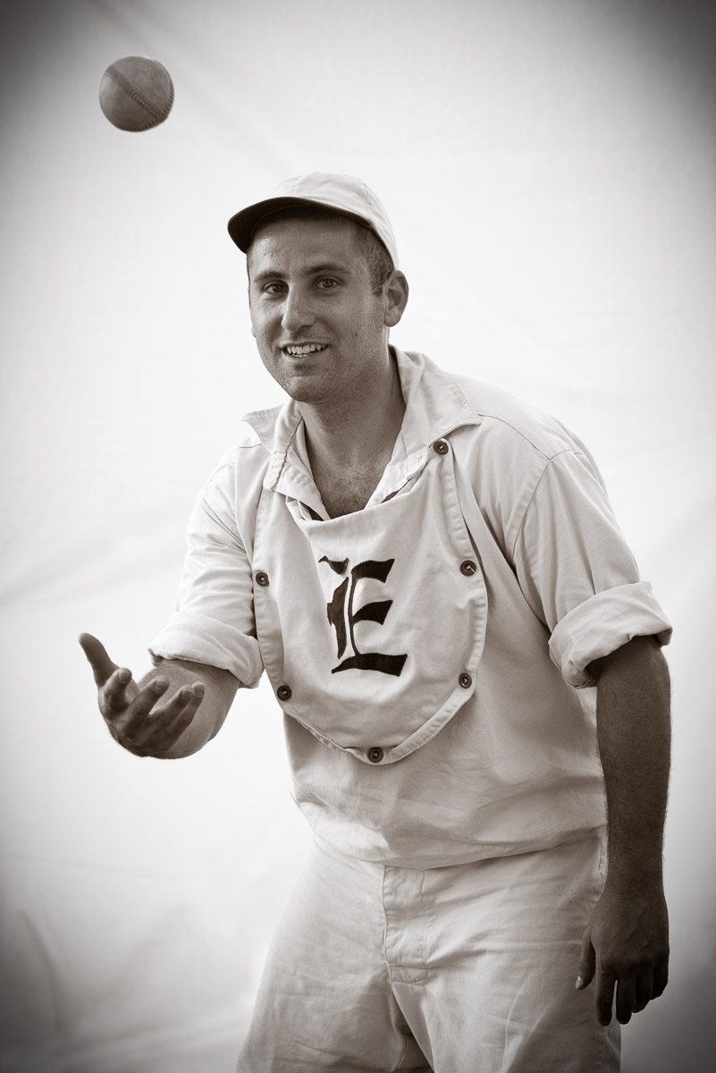 Hurler Danny Marcus of the Elizabeth Resolutes Base Ball Club in Rahway, NJ.