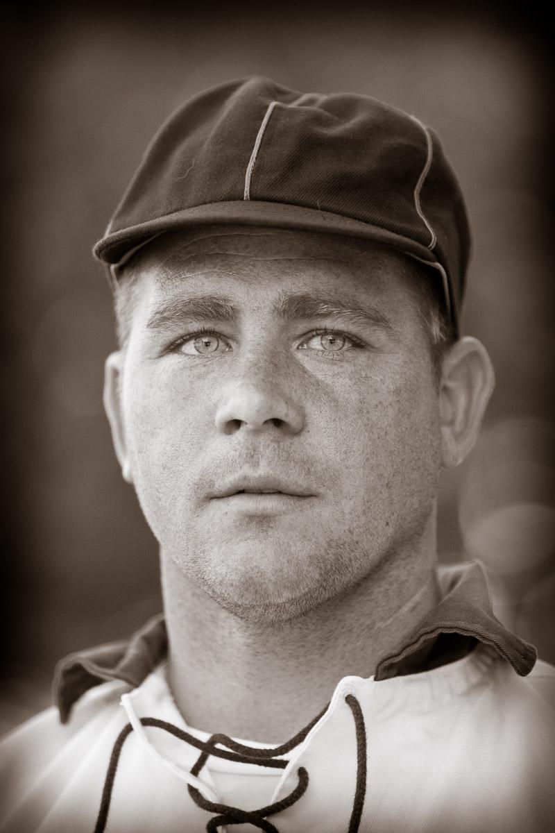 John Boyer of the Elkton Eclipse Base Ball Club at the Vintage Baseball Festival at the Naval Yards in Philadelphia.