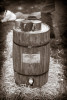 A water barrel at the Vintage Baseball Festival at the Naval Yards in Philadelphia.