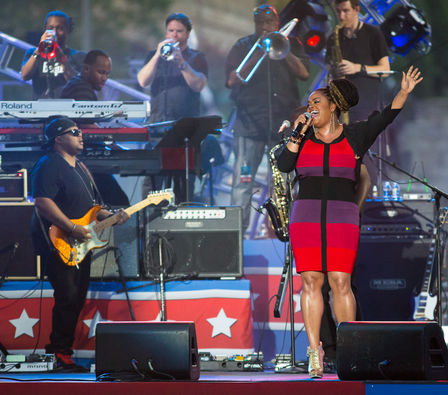Jill Scott performs at the Welcome America 4th of July Jam in Philadelphia.