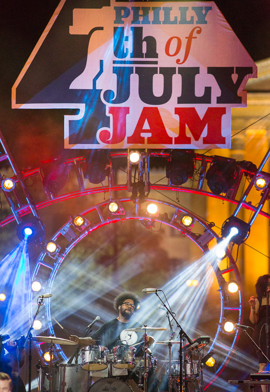 ?uestlove of The Roots performs at the Welcome America 4th of July Jam in Philadelphia.