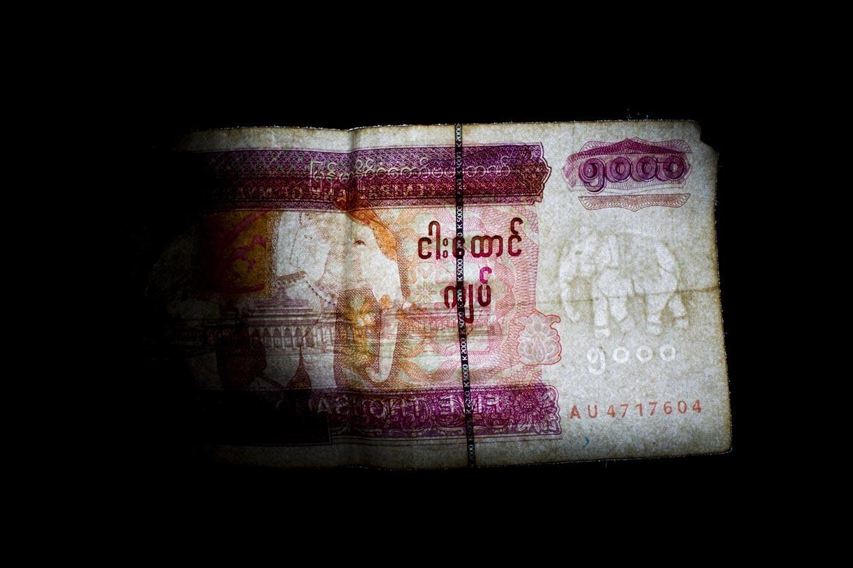 Elephants appear on the Myanmar's 1000 Kyat note.