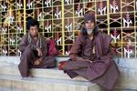 Holy men pose for a photo at Botataung Paya.
