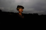 A young labourer is pictured at a mining site in the Jaintia Hills.