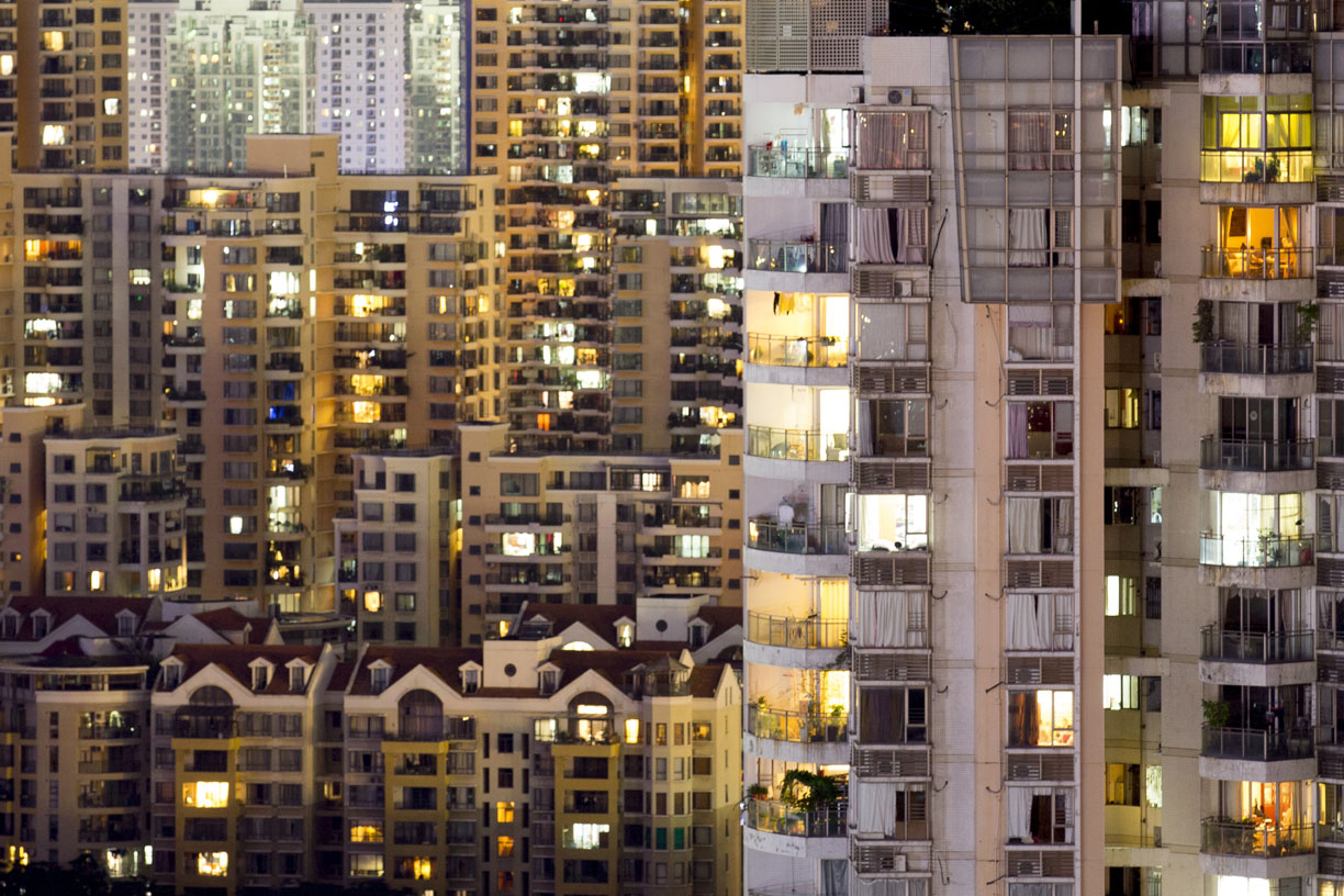 Apartment Buildings, Shenzhen, China.