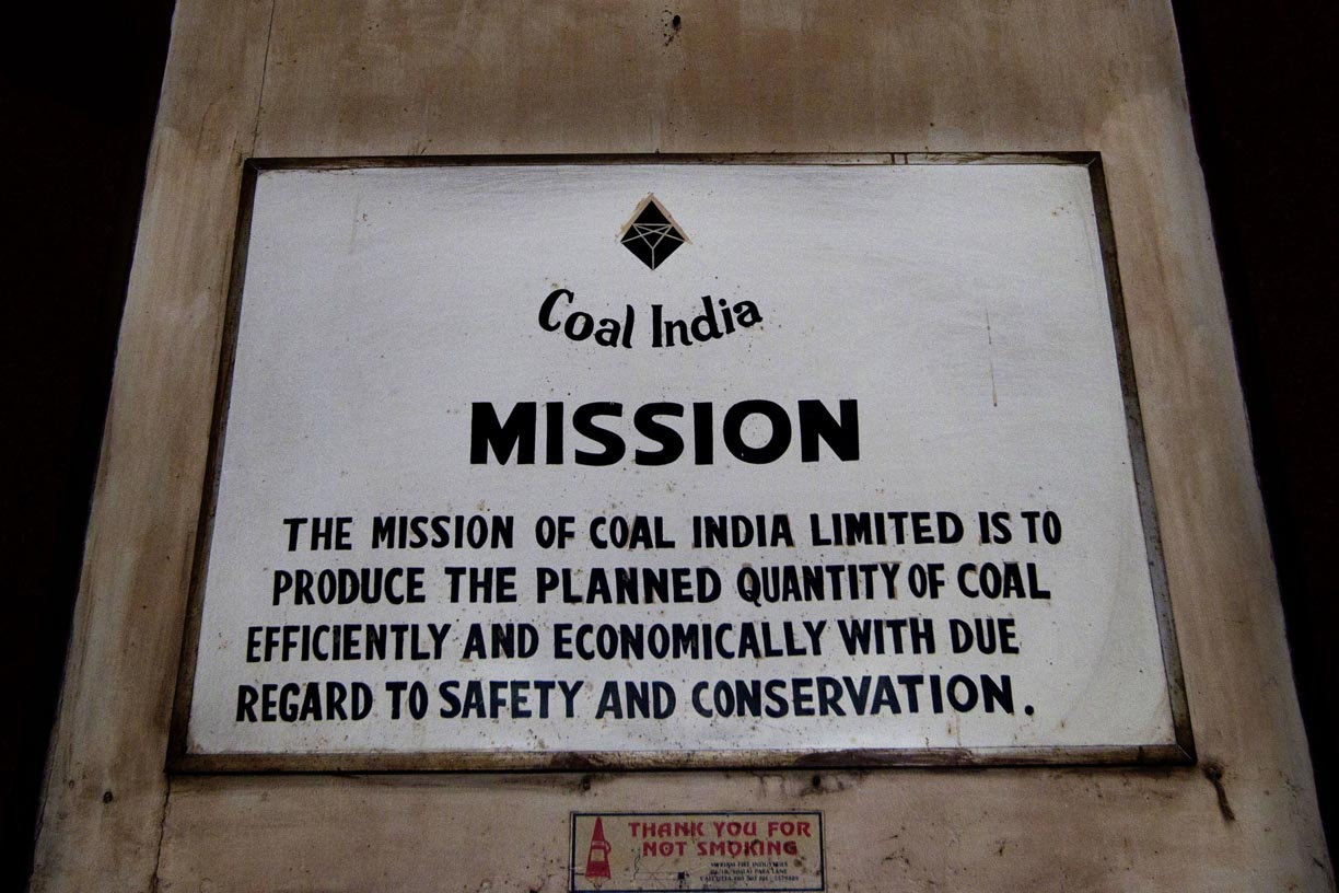 Coal India signage is displayed outside an office in Kolkata.
