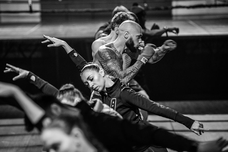 "St. Paul Ballet dancers and Element Gym boxers rehearse for their collaborative performance, ""The Art of Boxing, The Sport of Ballet,"" on October 13, 2017 in St. Paul, MN."