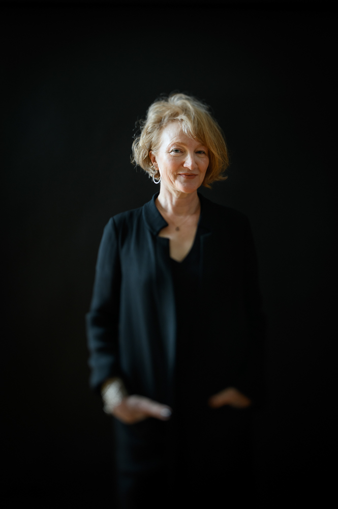 Krista Tippet, Founder and CEO of The On Being Project,  and host of the On Being radio show, poses for a portrait in her office space in Minneapolis, MN on January 24, 2020.