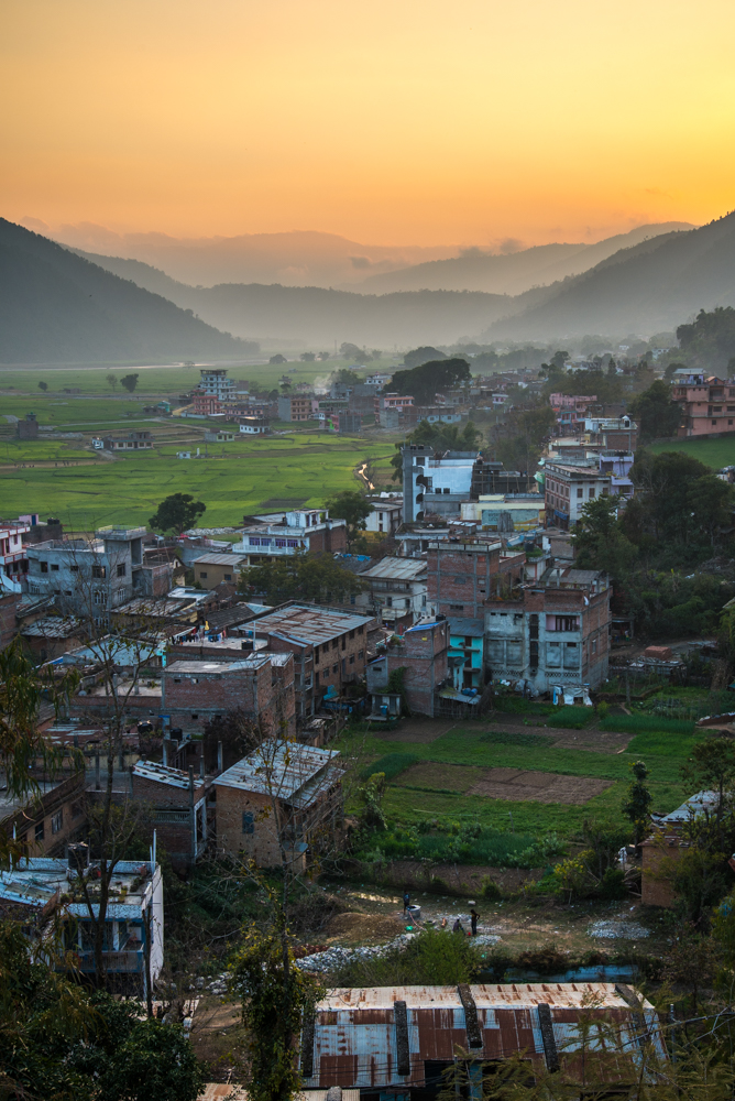 The end of the day in the Jhimruk Khola river valley.  The village of Bijuwar is the market center for the Pyuthan District of central Nepal.