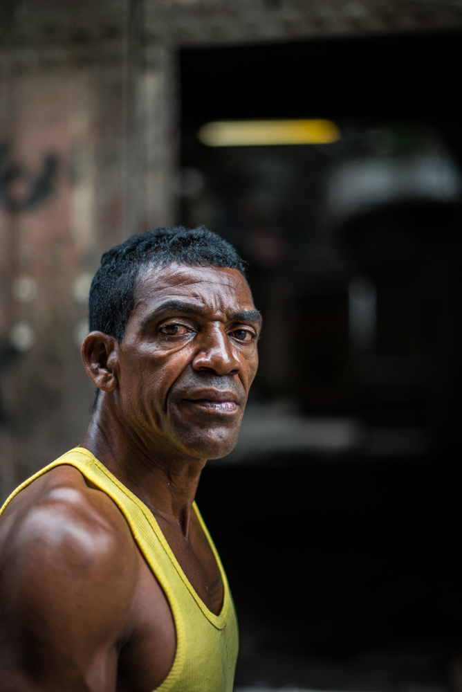 A man on the streets of Old Havana.