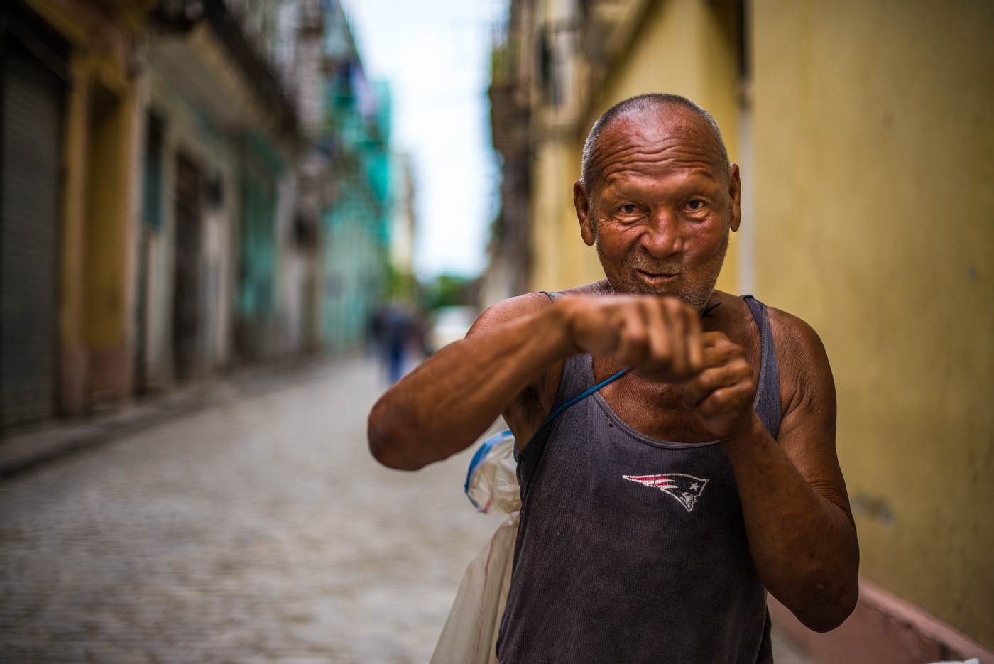 Angel Chien Alto loves his country.  He was once the greatest boxer in all of Cuba.