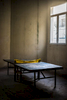 A solitary ping-pong table sits at the back of an Aikido dojo in Old Havana.